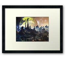 Hyperious Temple Ruins - Planet Ryjal Framed Print