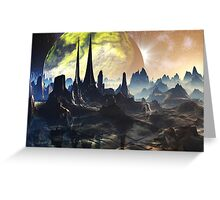 Hyperious Temple Ruins - Planet Ryjal Greeting Card