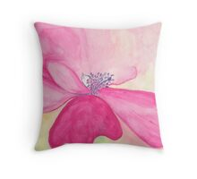 Pretty but Poisonous Windflower Throw Pillow