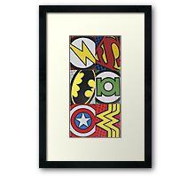 Avengers Superhero Framed Print