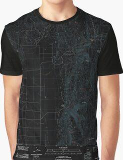 USGS Topo Map Oregon Mahon Creek 20110831 TM Inverted Graphic T-Shirt