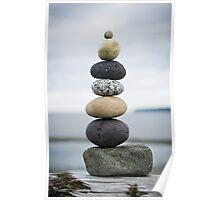 Birch Bay Balanced Rocks Poster