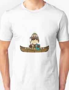 Cute Little Inuit Fisherman in Kayak T-Shirt