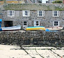 Cottages, Mousehole Harbour, Cornwall by Tony Steel
