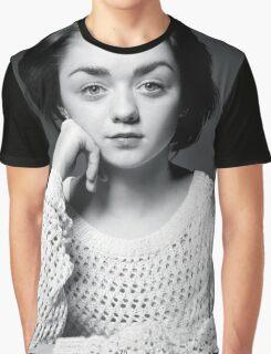 Maisie Williams Black & White Graphic T-Shirt