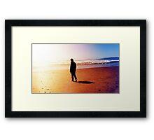 A Man Gazes Into The Horizon Framed Print