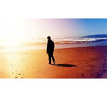 A Man Gazes Into The Horizon Photographic Print