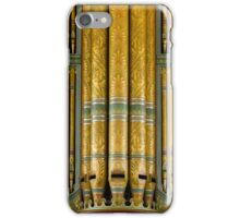 Green and gold organ pipes iPhone Case/Skin