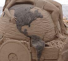 Artwork At The Beach - Arte En La Playa by Bernhard Matejka