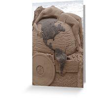 Artwork At The Beach - Arte En La Playa Greeting Card