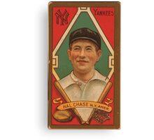 Benjamin K Edwards Collection Harold W Chase New York Yankees baseball card portrait 001 Canvas Print
