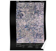 USGS Topo Map Washington State WA Frederickson 20110422 TM Inverted Poster