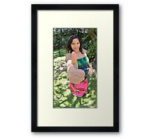 Thumb up gesture Framed Print