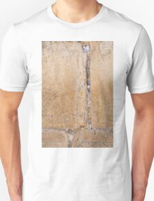 Wailing Wall Closeup of the notes to God in the cracks Unisex T-Shirt