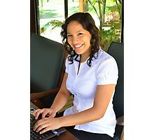 Attractive young brunette businesswoman Photographic Print