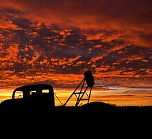 Alone at the Drive In Movie - Whitecliffs NSW by Malcolm Katon