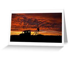 Alone at the Drive In Movie - Whitecliffs NSW Greeting Card
