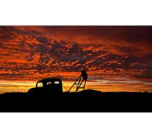 Alone at the Drive In Movie - Whitecliffs NSW Photographic Print