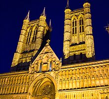 Lincoln Cathedral at night by Paul Collin