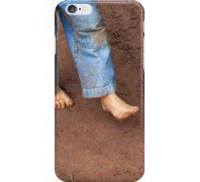 Kid dirty feet on muddy ground iPhone Case/Skin