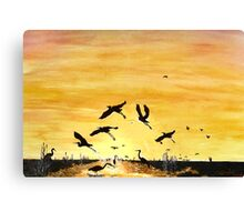 Cranes c8 Canvas Print