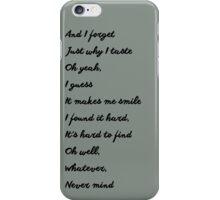 Smells Like Teen Spirit iPhone Case/Skin