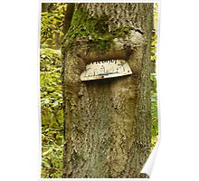 tree eating sign Poster