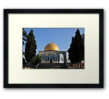 Israel, Jerusalem Old City, Dome of the Rock on Haram esh Sharif (Temple Mount) a Qanatir (The Arch) in the foreground Framed Print