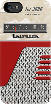 Transistor Radio - 50's Jet Red by ubiquitoid
