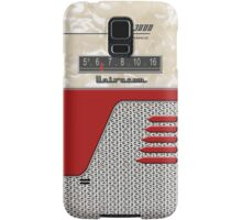 Transistor Radio - 50's Jet Red Samsung Galaxy Case/Skin