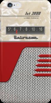 Transistor Radio - 50's Jet Red by ubiquitoid