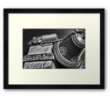 mysterious meetings Framed Print