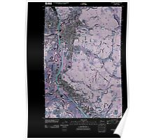 USGS Topo Map Washington State WA Centralia 20110405 TM Inverted Poster