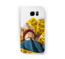 Doll resting on measuring tape Samsung Galaxy Case/Skin