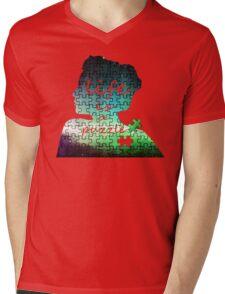 Puzzle Mens V-Neck T-Shirt