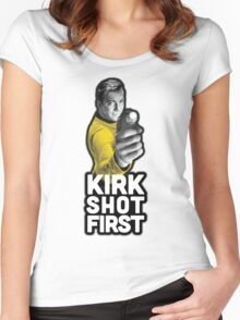 Kirk Shot First Women's Fitted Scoop T-Shirt