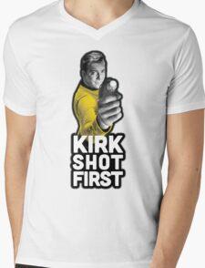 Kirk Shot First Mens V-Neck T-Shirt