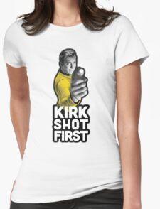 Kirk Shot First Womens Fitted T-Shirt