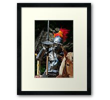 Knight in shinning armour Framed Print
