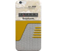 Transistor Radio - 50's Jet Gold iPhone Case/Skin