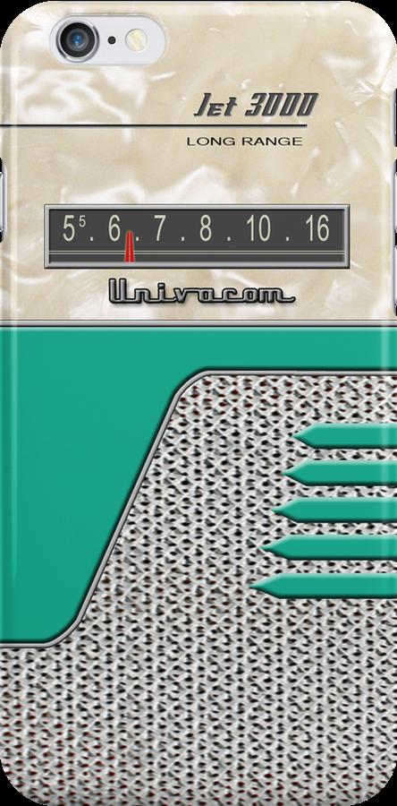 Transistor Radio - 50's Jet Green by ubiquitoid