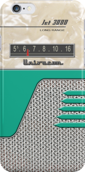 Transistor Radio - 50's Jet Green by ubiquitoid