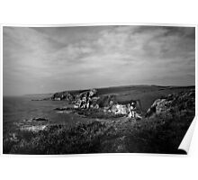 View from Toby's Point on the SW Coastal Path Poster