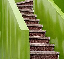 Chartreuse Stairway by Jane Underwood