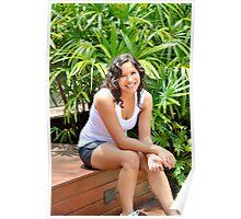 Relaxing in the garden Poster