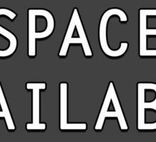 Space Available  Sticker