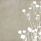 Buttercups in Beige & White by Elle Campbell