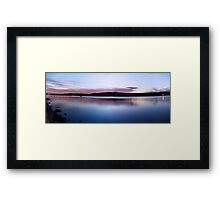 Sunset At Gosford Waterfront 2 (2 shot Panorama) Framed Print