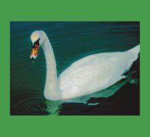 Swan on an aqua lake Baby Tee