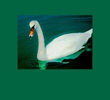Swan on an aqua lake T-Shirt